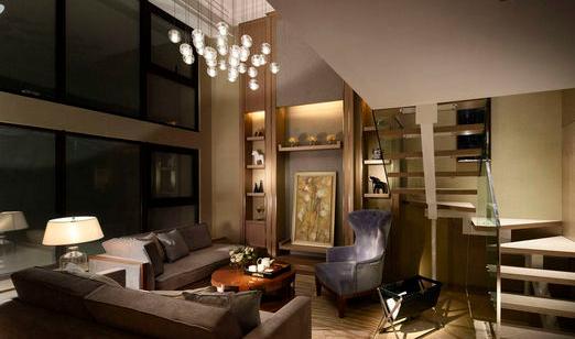 必学装修:挑高客厅水晶灯的搭配